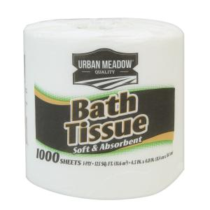 Urban Meadow - 1 White Roll Bath Tissue