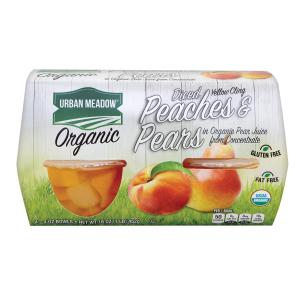 Urban Meadow Green - Organic Peach Pear Bowl 4pk