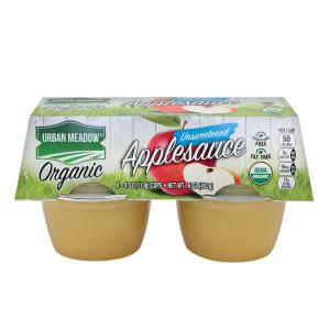 Urban Meadow Green - Organic Unsweet Applesce 4pk